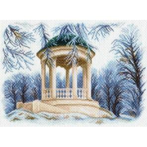 Зимняя беседка Ткань с рисунком Матренин посад