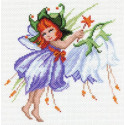 Фея колокольчик Ткань с рисунком Матренин посад