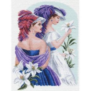 Девушки с лилиями Ткань с рисунком Матренин посад