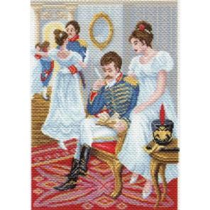 Строчка в альбом Ткань с рисунком Матренин посад