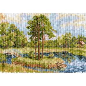 Речная заводь Ткань с рисунком Матренин посад