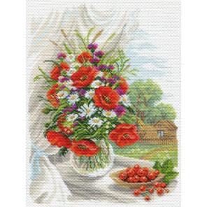 Полевые цветы Ткань с рисунком Матренин посад