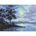 Ночной пейзаж Ткань с рисунком Матренин посад