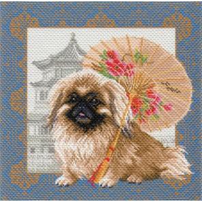 Пекинес в Пекине Ткань с рисунком Матренин посад