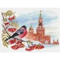 Московская зима Ткань с рисунком Матренин посад