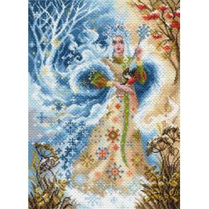 Волшебница зима Ткань с рисунком Матренин посад