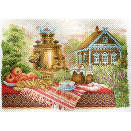 Натюрморт деревенский Ткань с рисунком Матренин посад
