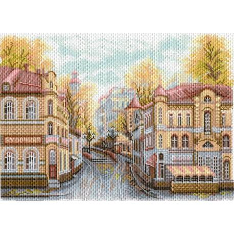 Московские улочки. Яузский Бульвар Ткань с рисунком Матренин посад