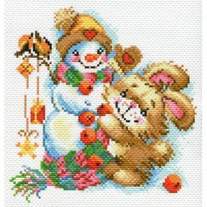 Веселая зима Ткань с рисунком Матренин посад