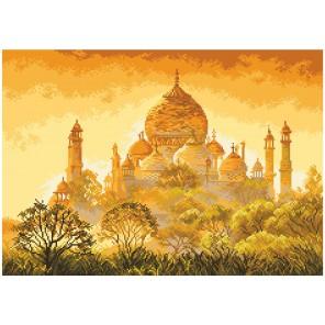 Закат над Тадж-Махал Ткань с рисунком Матренин посад