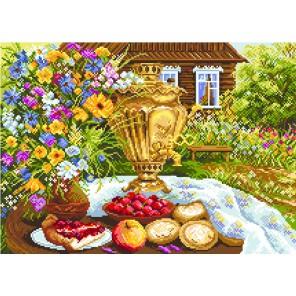 Деревенский натюрморт Ткань с рисунком Матренин посад