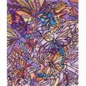 Витраж с бабочками Ткань с рисунком Матренин посад