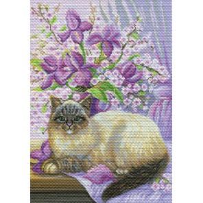 Сиреневая нежность Ткань с рисунком Матренин посад