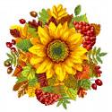 Осенний подсолнух Ткань с рисунком Матренин посад