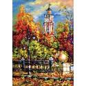Божественная осень Ткань с рисунком Матренин посад