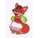 Лисичка Канва с рисунком для вышивки Матренин посад