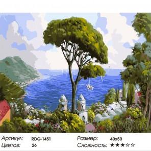 Солнечная Испания Раскраска картина по номерам акриловыми красками на холсте