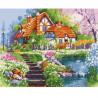 Дом у пруда Раскраска картина по номерам акриловыми красками на холсте