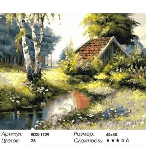 Маленький домик в лесу Раскраска картина по номерам акриловыми красками на холсте
