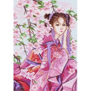 Розовые мечты Канва с рисунком для вышивки Матренин посад