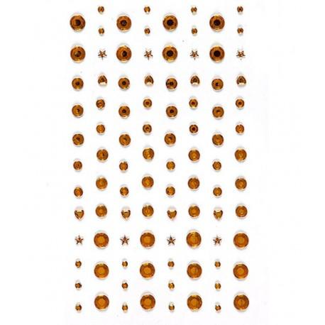 Золотые Декоративные клеевые стразы 104 шт Docrafts