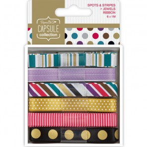 Spots & Stripes Jewels Набор лент для скрапбукинга, кардмейкинга Docrafts