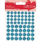Синие мерцающие кружочки Декоративные клеевые элементы Docrafts