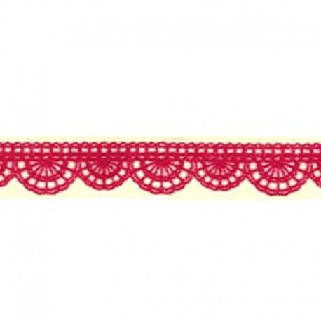 Кружевная красная ленточка Декоративный полупрозрачный скотч Stamperia