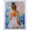 Маленькая балерина Алмазная мозаика на подрамнике Цветной
