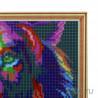 Радужный лев Алмазная мозаика на подрамнике Цветной
