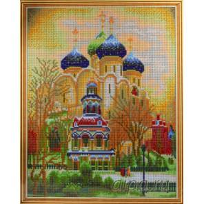 Троицкий Собор Алмазная мозаика на подрамнике Цветной