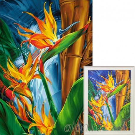 Пример собранной мозаики Плоды огня Алмазная вышивка мозаика Гранни