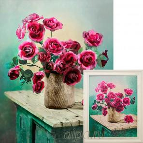 Розовые грезы Алмазная вышивка мозаика Гранни