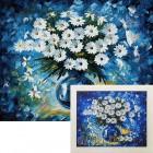 Собранная мозаика Букет маргариток Алмазная вышивка мозаика Гранни