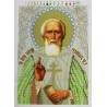 Канва с нанесенным рисунком Святой Сергий Радонежский Набор для вышивки бисером Вышиваем бисером