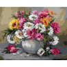 Яркие цветы Раскраска картина по номерам акриловыми красками на холсте