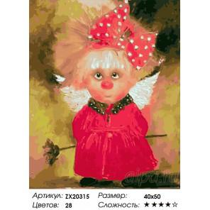 Количество цветов и сложность Ангел любви Раскраска картина по номерам акриловыми красками на холсте
