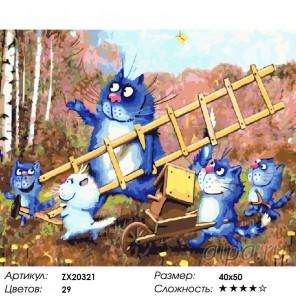 Весёлая семейка Раскраска картина по номерам акриловыми красками на холсте