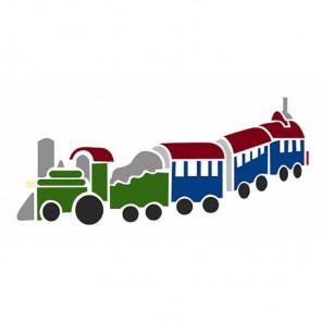 Поезд Трафарет 15х30 см Marabu