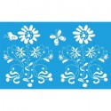 Цветы и бабочки Трафарет 40х66 см Marabu