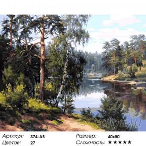 Моя Карелия Раскраска ( картина ) по номерам акриловыми красками на холсте Белоснежка
