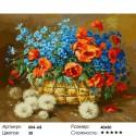 Количество цветов и сложность Лето в корзинке Раскраска ( картина ) по номерам акриловыми красками на холсте Белоснежка