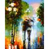 Двое под дождем (художник Леонид Афремов) Раскраска по номерам акриловыми красками на холсте