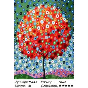 Денежное дерево Раскраска ( картина ) по номерам акриловыми красками на холсте Белоснежка