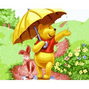 Летний дождь Раскраска картина по номерам на холсте