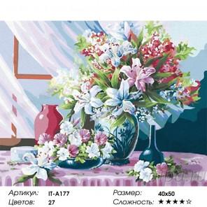 Лилии Раскраска по номерам на холсте Iteso