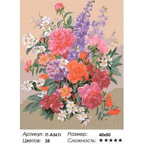 Сложность и количество цветов Романтическая композиция Раскраска по номерам ( Картина ) акриловыми красками на холсте Iteso