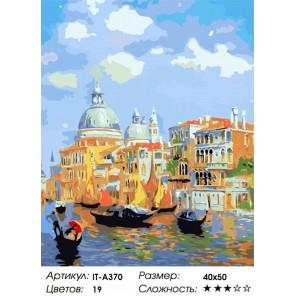 Количество цветов и сложность Солнечная Венеция Раскраска по номерам акриловыми красками на холсте Iteso