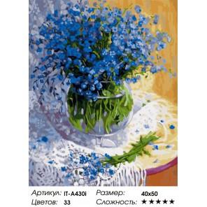 Незабудки ( художник Жанна Сидоренко ) Раскраска ( картина ) по номерам акриловыми красками на холсте Iteso