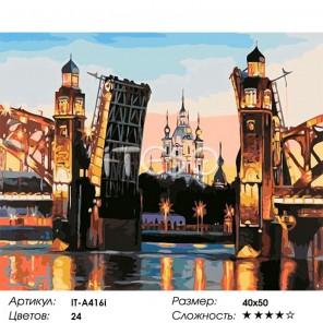 Большеохтинский мост Раскраска (картина) по номерам на холсте Iteso